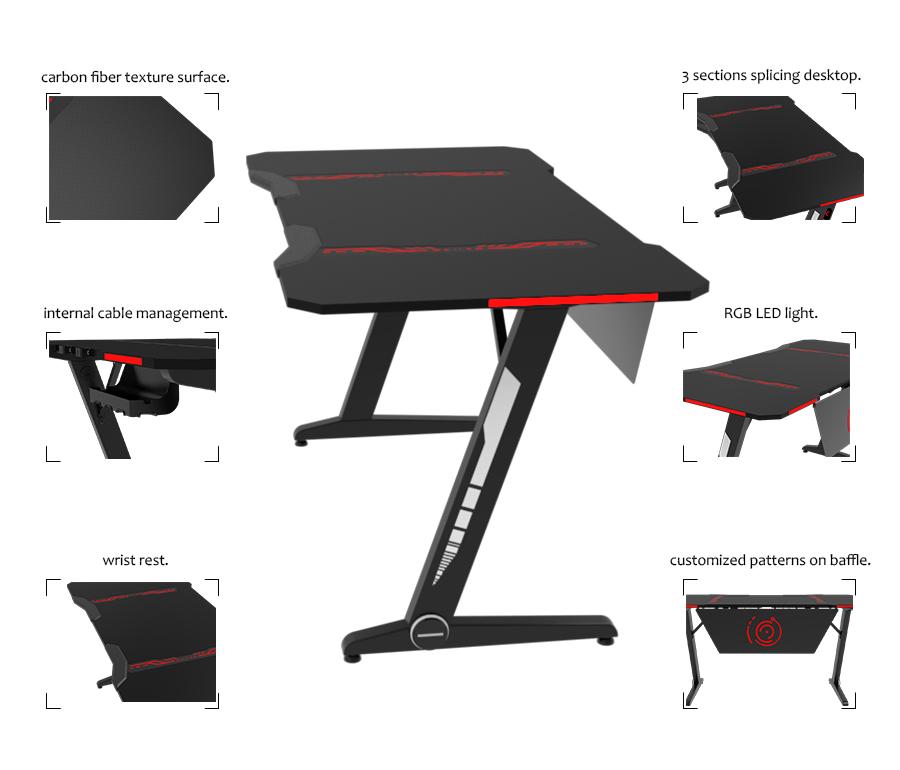 gaming desk rgb