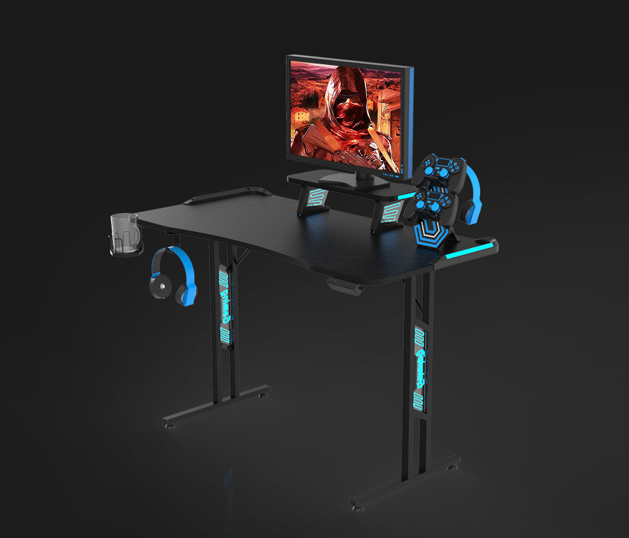 t shape gaming desk