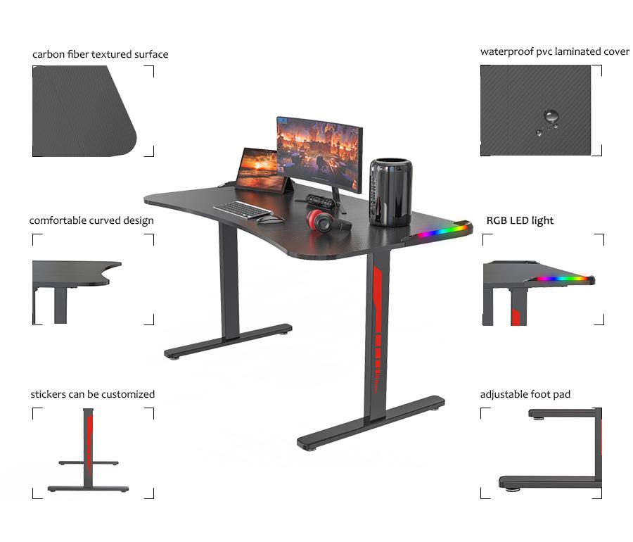ergonomic gaming desk