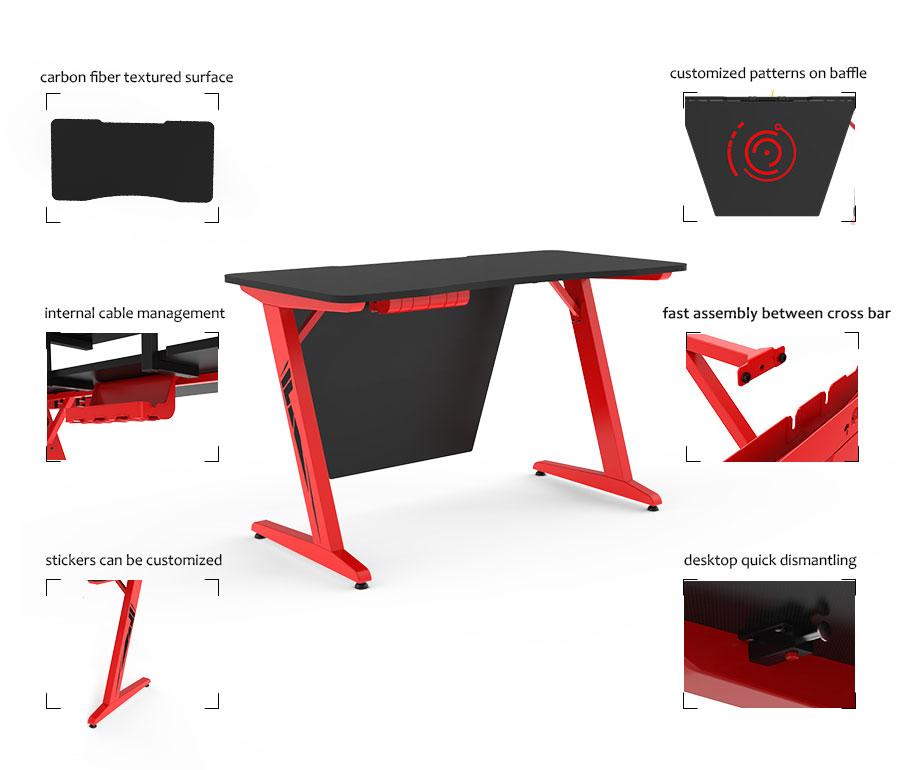 led gaming desk