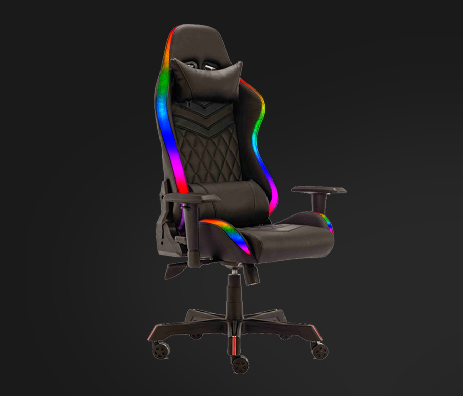 gaming chair and desk