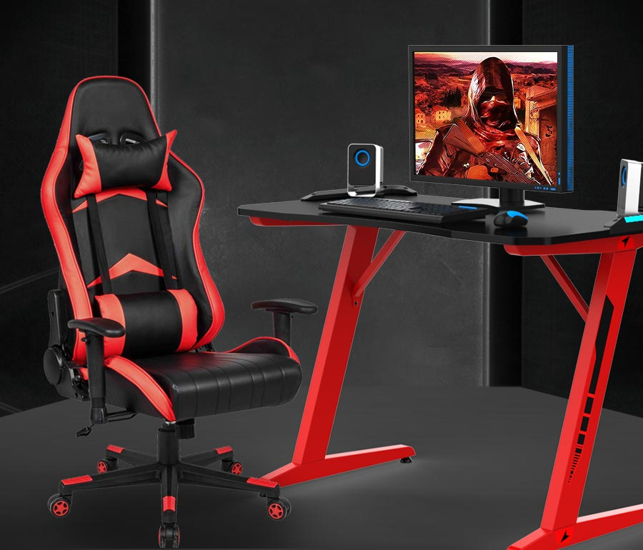gaming racing office PU leather desk