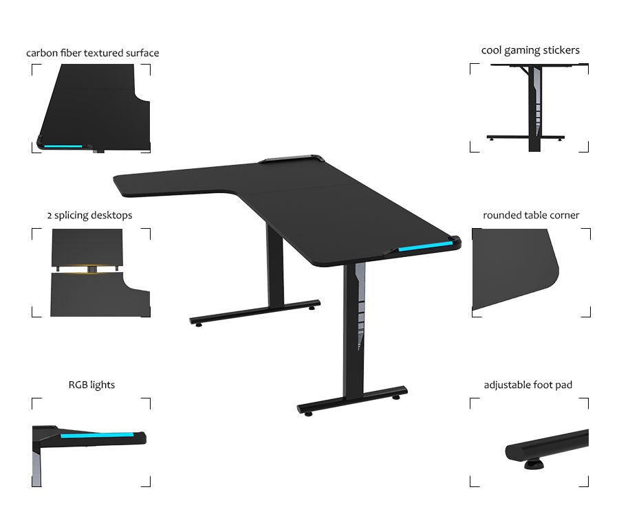 led gaming desk