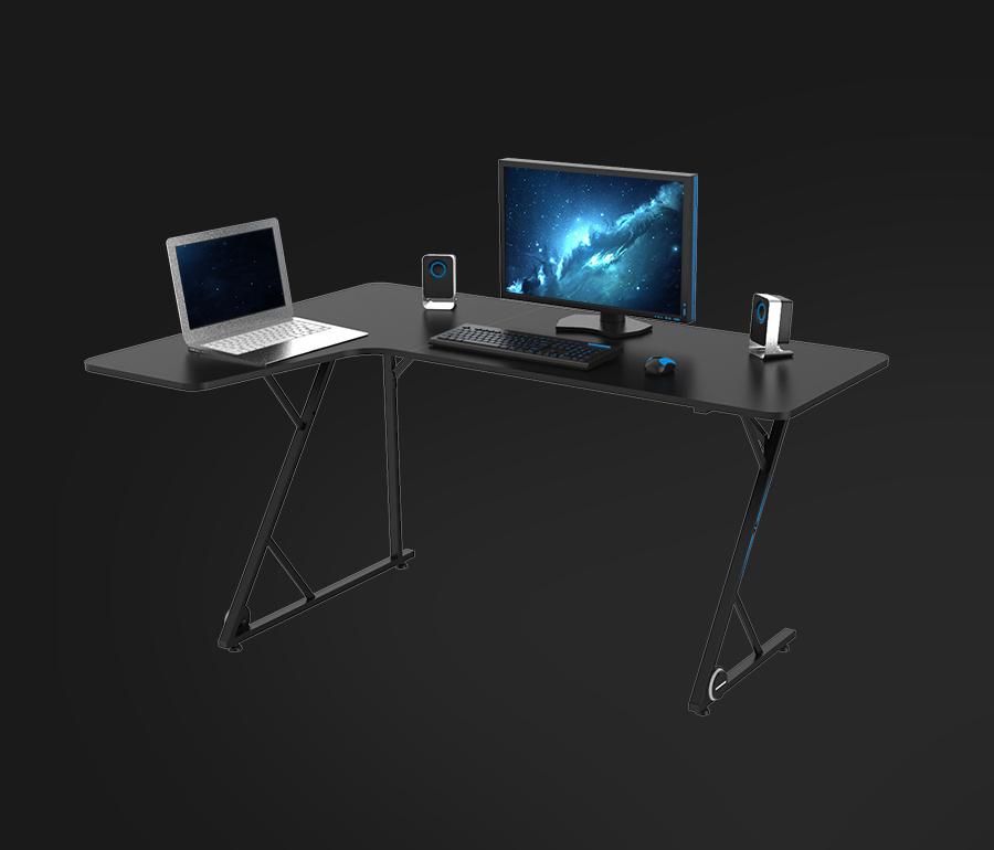l shaped gaming computer desk