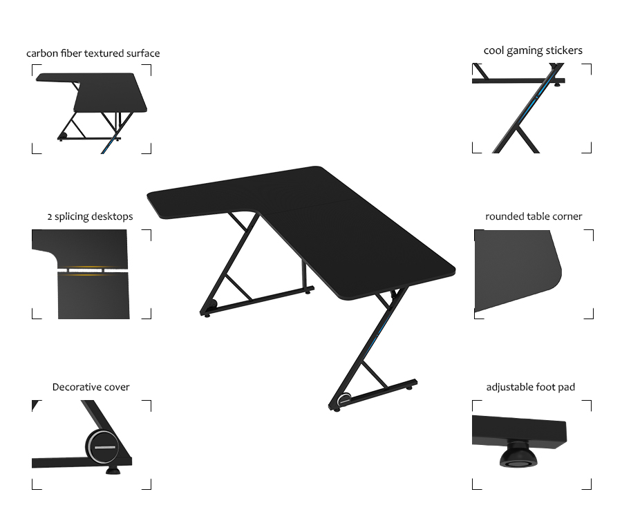 best l shaped desk for gaming