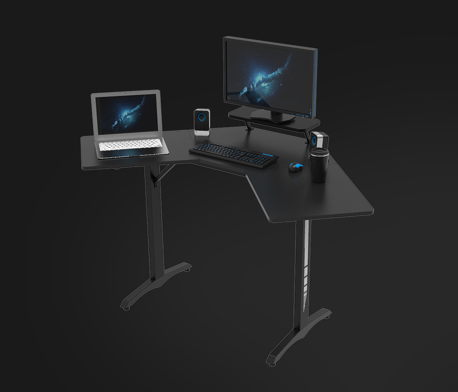 l shaped gaming desk china factory