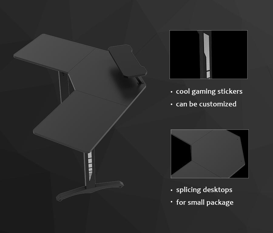 led gaming desk china supplier