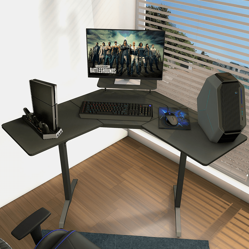 L shaped computer gaming desk chinese oem factory