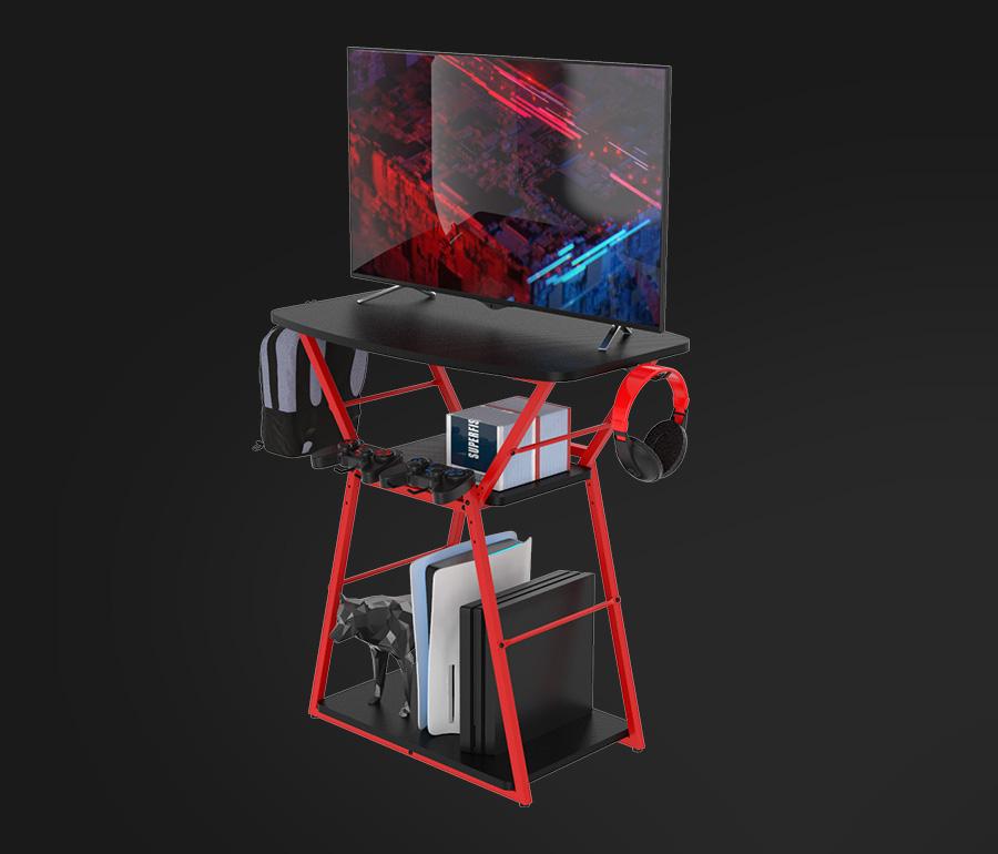 gaming tv unit gaming tv stand shelf