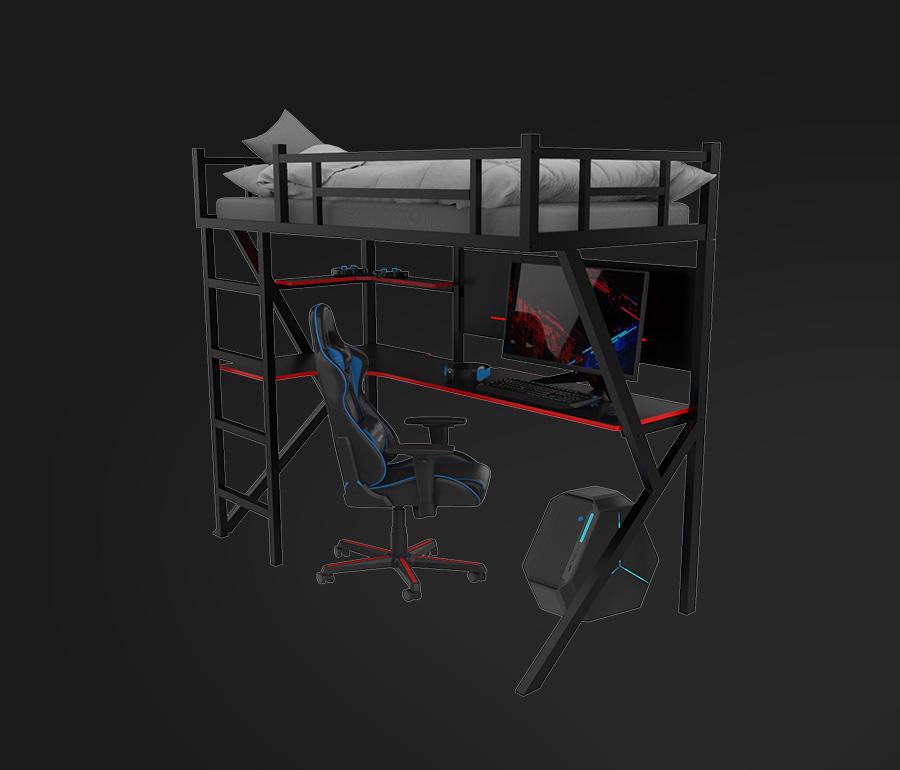 bunk gaming bed