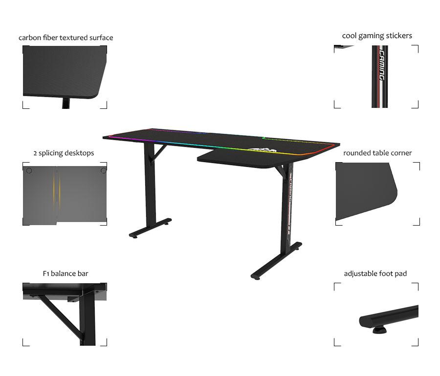 l desk computer setup